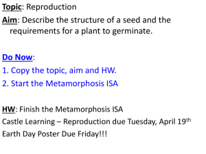 Seed structure and Germination