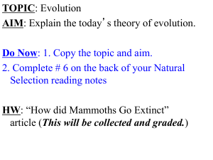 Modern Theory of Evolution