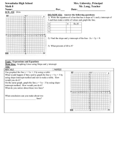 Math 8 Lesson Plan 24 Graphing Lines using slope and y int class outline for students.doc