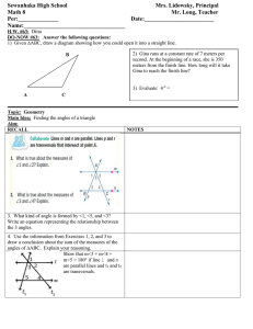 MATH 8 LESSON PLAN 63 Finding the angles of a triangle class outline for students.doc