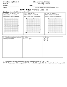 Math 8 HW 33 Determining if a relation is a function on a graph.doc