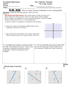 Math 8 HW 46 More on using a system of equations to solve word problems.doc