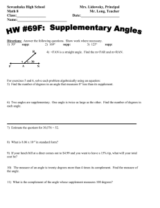 Math 8 HW 69F Supplementary Angles.DOC