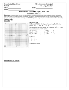 Math 8 HW DO NOW Assignment Sheet 13