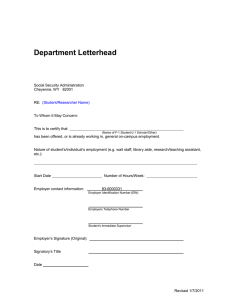 Department Letterhead