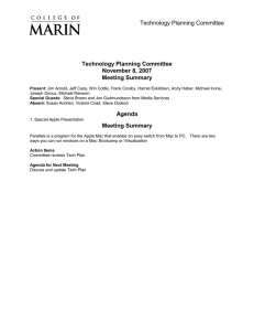 Technology Planning Committee November 8, 2007 Meeting Summary Agenda