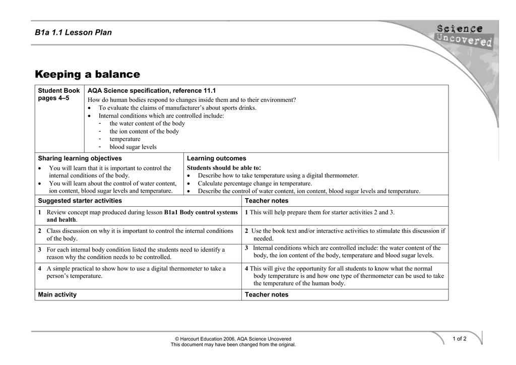 aqa science homework sheet b1a 1.1