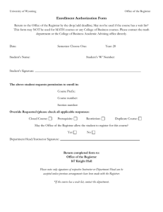 Enrollment Authorization Form