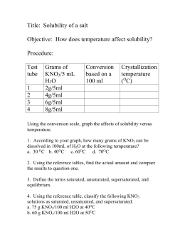 solubility of potassium nitrate lab report