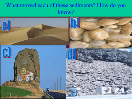 What moved each of these sediments? How do you know?