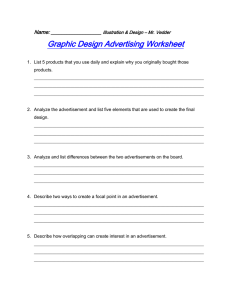 Graphic Design Advertising Worksheet