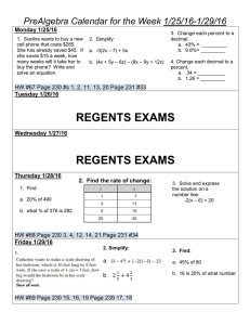 Do Now/Homework 1/25-1/29