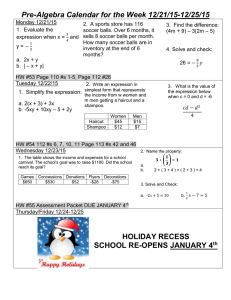 Do Now/Homework 12/21-12/25