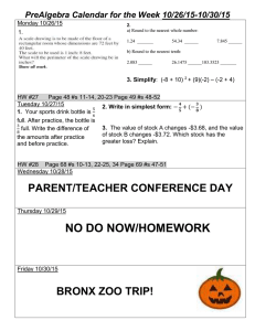 Do Now/Homework 10/26-10/