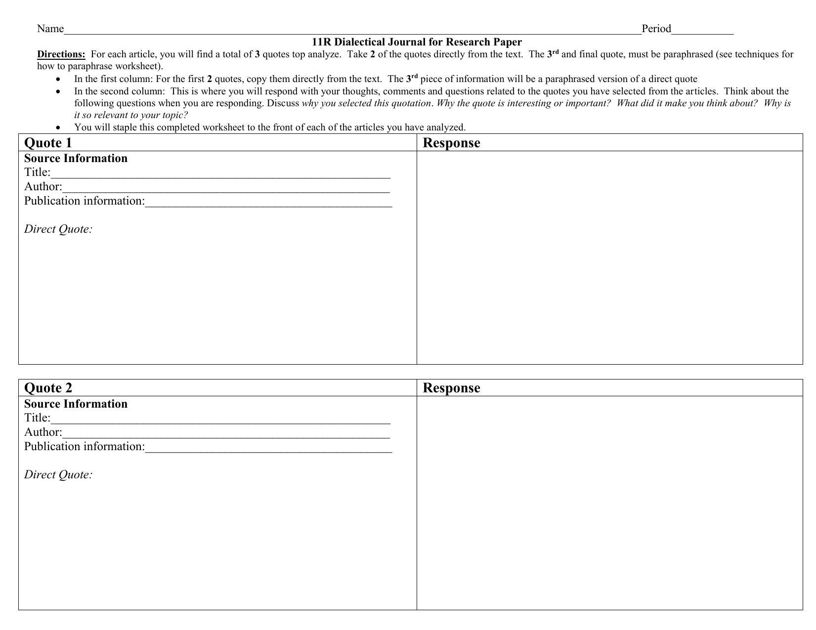 dialectical journal for hgm Emma harvey narrates as students karma and buckets discover the right--and rushed-- ways of completing one's ap language dialectical journal.