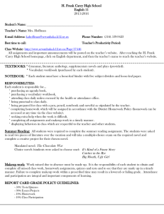 Grade Expectation Sheet 2015-2016