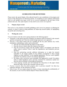 GUIDELINES FOR REVIEWERS