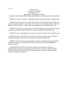 STAFF SENATE University of Wyoming Resolution No. 191