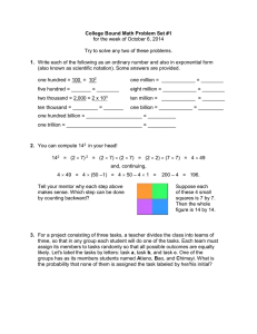 College Bound Math Problem Set #1 1.