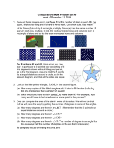 College Bound Math Problem Set #9 1. week of December 15, 2014