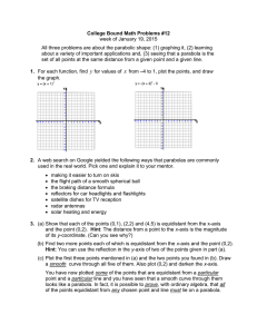 College Bound Math Problems #12 week of January 19, 2015
