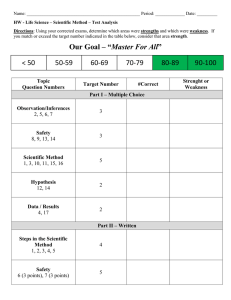 Scientific Method Test Analysis Worksheet