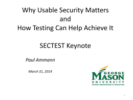 SECTEST keynote talk