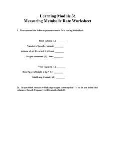 Learning Module 3: Measuring Metabolic Rate Worksheet