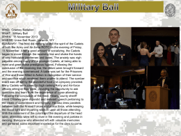 WHO:  Cowboy Battalion WHAT:  Military Ball