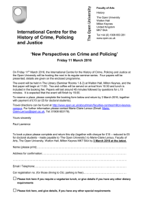 International Centre for the History of Crime, Policing