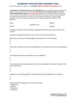Eta fullbright sample essays