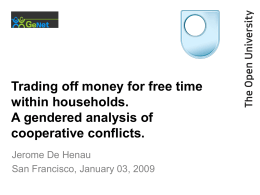 Trading off Money for Free Time Within Households: A Gendered Analysis of Cooperative Conflicts