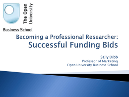 Successful funding bids