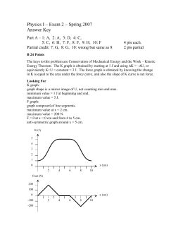 Physics I – Exam 2 – Spring 2007 Answer Key