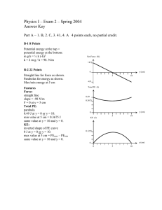 Physics I – Exam 2 – Spring 2004 Answer Key