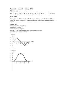 Physics I – Exam 1 – Spring 2006 Answer Key