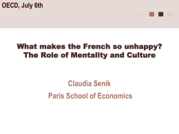 What Makes the French So Unhappy