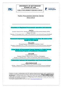 Programme of the PPRG 2012-2013 Seminar Series
