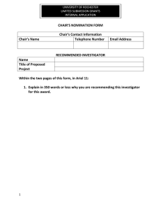 Chair's Nomination Form