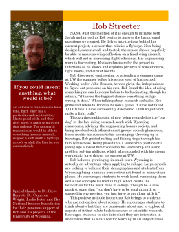 Interview With Rob Streeter