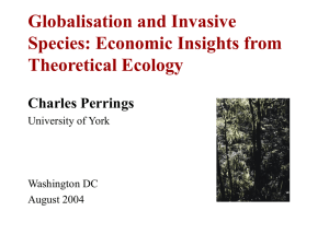 Globalization and Invasive Species: Economic Insights from Theoretical Ecology