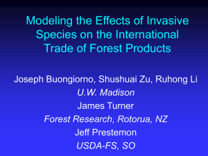 Modeling the Effects of Invasive Species on the International Trade of Forest Products