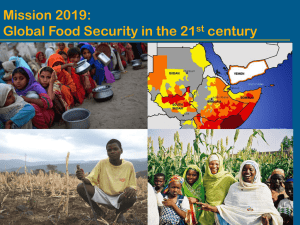 Mission 2019: Global Food Security in the 21 century st