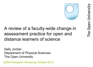 A review of a faculty-wide change in distance learners of science