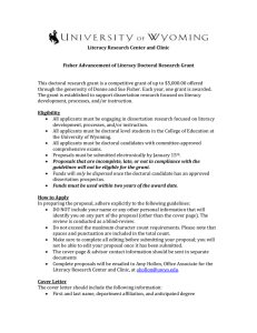 Fisher Advancement of Literacy Doctoral Research Grant