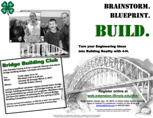 Build. Brainstorm. Blueprint. Register online at