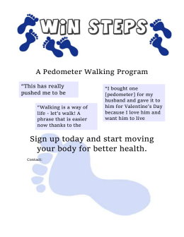 "A Pedometer Walking Program ""This has really pushed me to be more active."""