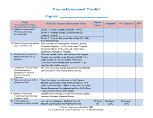 Program Enhancement Checklist