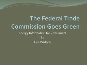 Energy Information for Consumers By Dee Pridgen