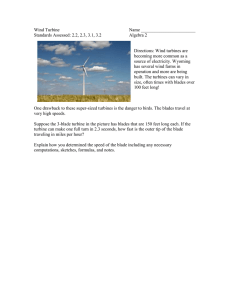 Wind Turbine  Name ________________________ Standards Assessed: 2.2, 2.3, 3.1, 3.2